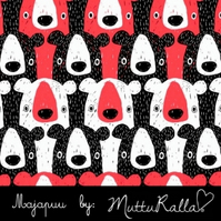 Dark Coral Bears organic jersey fabric by Majapuu Designs (half metre)