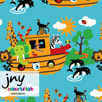 Animal Ark organic jersey fabric by JNY Colourful Kids (half metre)