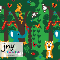 Jungle organic jersey fabric by JNY Colourful Kids (half metre)