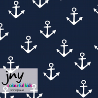 SALE - Anchor organic jersey fabric by JNY Colourful Kids (half metre)