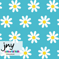Daisy organic jersey fabric by JNY Colourful Kids (half metre)