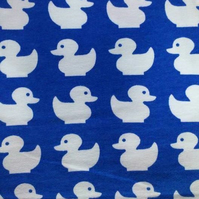 50cm long piece - Blue ducks organic jersey fabric by JNY Colourful Kids