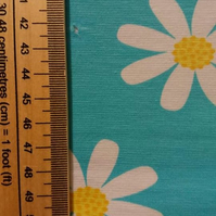 FLAWED 50cm long piece - Daisy organic jersey fabric by JNY Colourful Kids