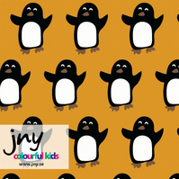 Penguin organic jersey fabric by JNY Colourful Kids (half metre)