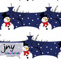 Snowman organic jersey fabric by JNY Colourful Kids (half metre)