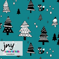 Fir tree organic jersey fabric by JNY Colourful Kids (half metre)