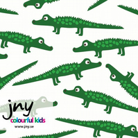 Crocodiles organic jersey fabric by JNY Colourful Kids (half metre)
