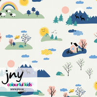 Happyland organic jersey fabric by JNY Colourful Kids (half metre)