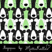 Pistachio green bears organic sweat fabric by Majapuu Designs (half metre)