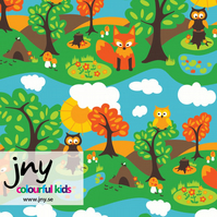 Little Wood organic jersey fabric by JNY Colourful Kids (half metre)
