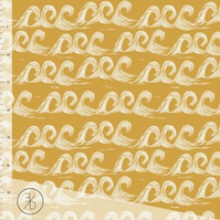 Gold Waves organic jersey fabric by Elvelyckan Design (half metre)