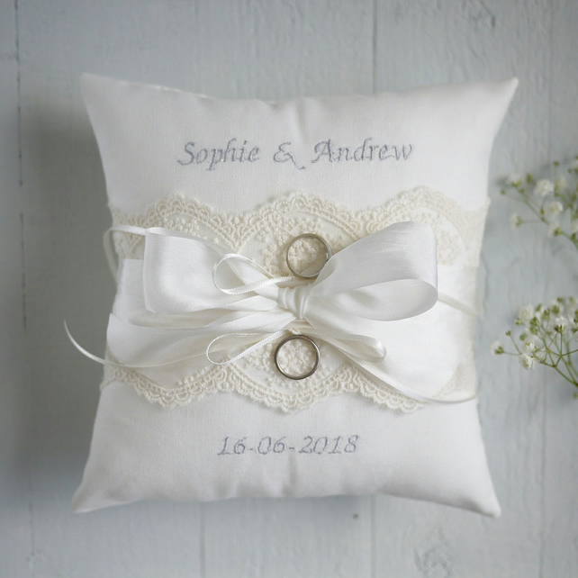 Wedding Ring Pillow Ring Bearer Pillow Person Folksy