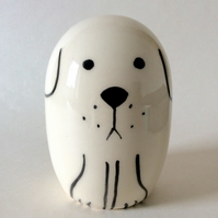 Handmade pottery dog.