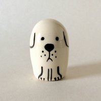 Little handmade pottery dog.