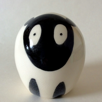 Handmade pottery sheep.