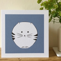 Cat greeting card.