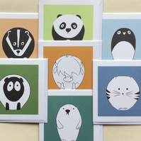 Weebogle greeting card set.