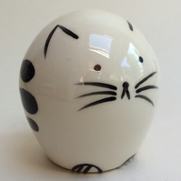 Handmade pottery cat.