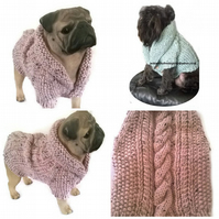 Alpaca mix Cable dog Cardigan Made to order