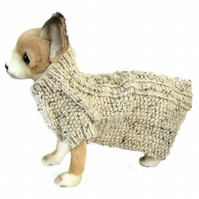 Extra Small knitted Wool dog coat