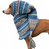 Blue Italian Greyhound dog Pixie Snood hat