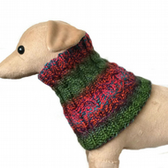 Multi coloured dog scarf neckwarmer