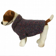 Small Grey knitted dog cardigan