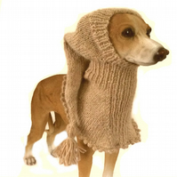 Pure Alpaca greyhound dog snood hat