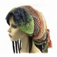 Silk mix Multi coloured Dread-wrap, tube beanie tube hat festival hat dreadlock