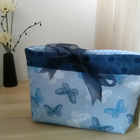 Blue Butterfly Make Up Bag