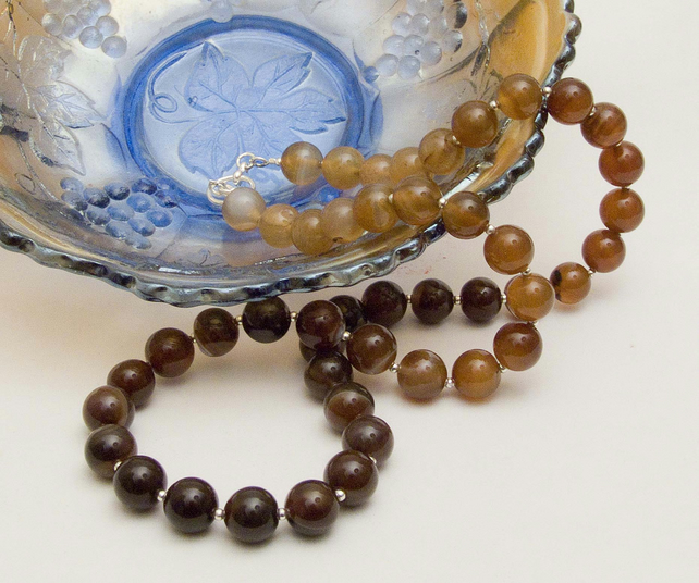 Coffee Agate Necklace
