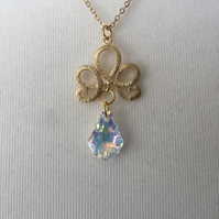 Filigree & gemstone necklace