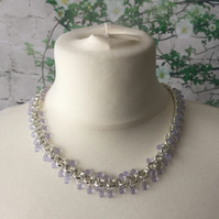 Lilac droplet necklace