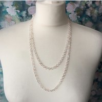 Duo seed bead necklace