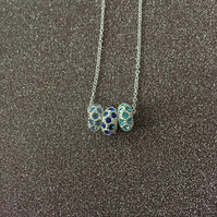 Rondelle beaded pendant necklace