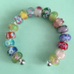 Chunky lampwork beaded bangle