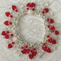 Swarovski red heart bracelet