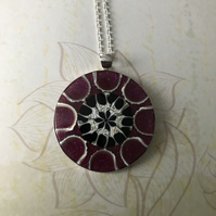Spider Shell & Resin Necklace
