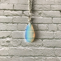 Opalite Teardrop Necklace