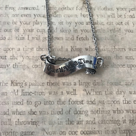 Once upon a time pendant necklace