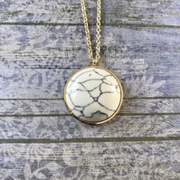 Polaris Steel Gold Pendant Necklace