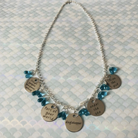 Disney's Ariel the Little Mermaid Inspired Quote Charm Necklace