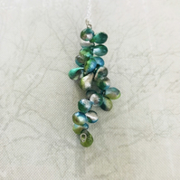 Czech Glass Beaded Vine Necklace