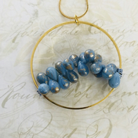 Czech Glass Beaded Hoop Necklace