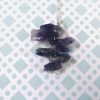 Rough Amethyst Pendant Necklace