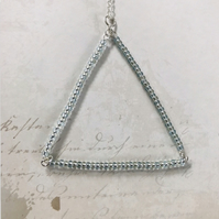 Beaded Triangle Pendant Necklace