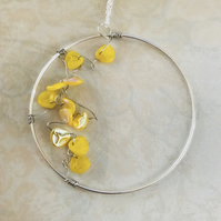 Vine & Petal Hoop Necklace