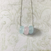 Pastel Rondelle Beaded Necklace