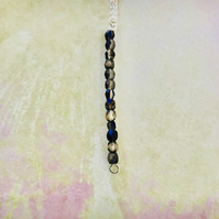 Matt Oil Slick Czech Glass Pendant Necklace