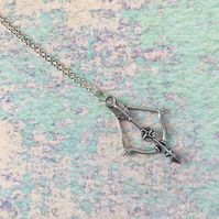 Bow & Arrow Pendant Necklace